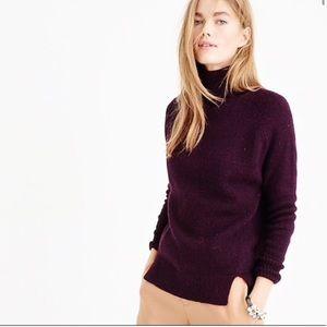 J. Crew Sweaters - New Jcrew Notched Turtleneck sweater Gray